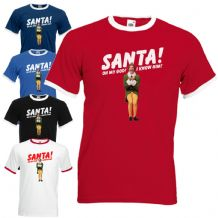SANTA! I KNOW HIM! Ringer T-Shirt - Funny Buddy The Elf Christmas Mens Gift Top